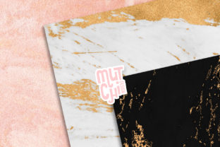 Print on Demand: Gold Marble Digital Paper Set Graphic Backgrounds By MutchiDesign 2