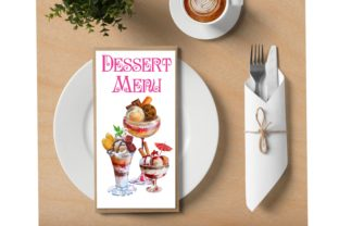 Print on Demand: Ice Cream and Dessert Clipart Graphic Illustrations By Marine Universe 4