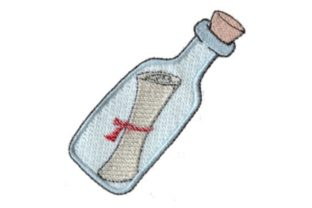 Message in a Bottle Pirates Embroidery Design By Sew Terific Designs