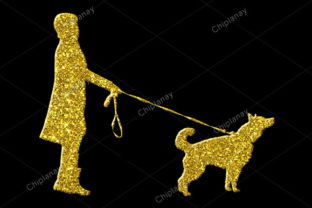 Print on Demand: Pet Animal Dog Golden Icon Logo Graphic Illustrations By Chiplanay