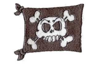 Pirate Flag Pirates Embroidery Design By Sew Terific Designs