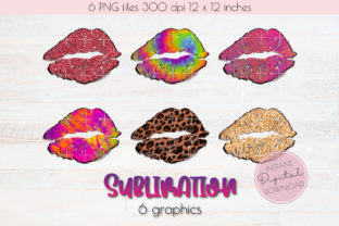 Print on Demand: Sexy Lips Sublimation 6 Graphics. Graphic Objects By Orange Brush Studio