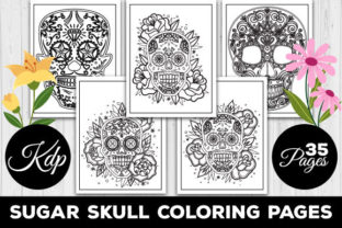 Print on Demand: Sugar Skull Coloring Pages Graphic Coloring Pages & Books Adults By TrendColors