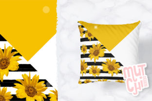 Print on Demand: Sunflower Digital Paper Set Graphic Backgrounds By MutchiDesign 2