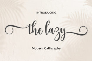 Print on Demand: The Lazy Script & Handwritten Font By Amarlettering