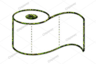Print on Demand: Toilet Paper Grass Green Graphic Illustrations By Chiplanay