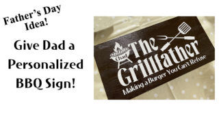 Give Dad a Personalized BBQ Sign