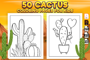 Print on Demand: Cactus Coloring Pages for Kids - Kdp Graphic Coloring Pages & Books Kids By Kristy Coloring