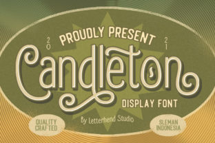 Print on Demand: Candleton Display Font By letterhend