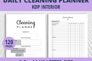 Print on Demand: Cleaning Planner - Daily KDP Interior Graphic KDP Interiors By PrintablesCC