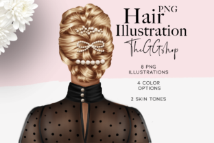 Print on Demand: Fashion Hair Girl Clipart Set Graphic Illustrations By TheGGShop 1