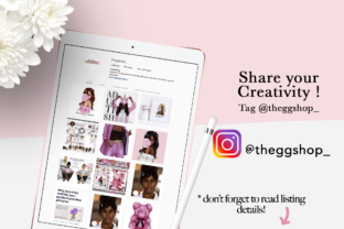 Print on Demand: Fashion Hair Girl Clipart Set Graphic Illustrations By TheGGShop 7