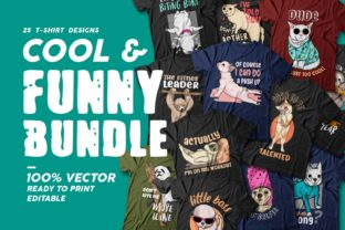 Print on Demand: Funny Bundle T Shirt Designs Sublimation Graphic Print Templates By Universtock
