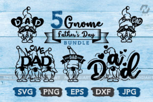Print on Demand: Gnome Father's Day Graphic Crafts By nesdigiart