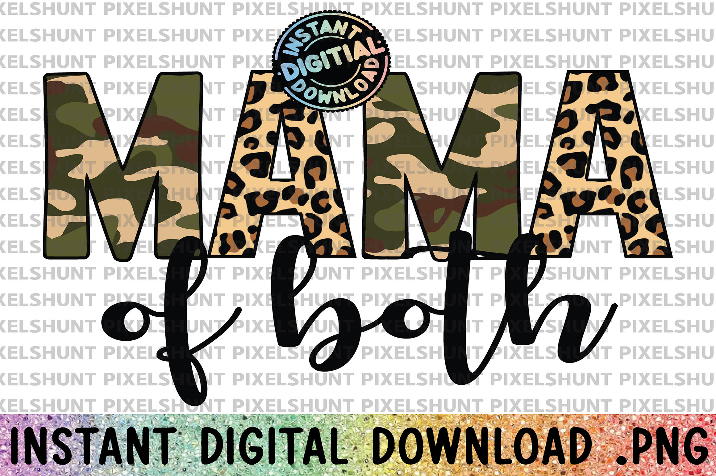 Leopard and Boho Mama of Both SVG File