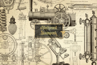 Print on Demand: Mechanical Steampunk Overlays Graphic Illustrations By Digital Curio 1