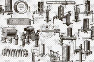 Print on Demand: Mechanical Steampunk Overlays Graphic Illustrations By Digital Curio 2