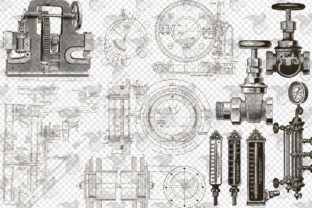 Print on Demand: Mechanical Steampunk Overlays Graphic Illustrations By Digital Curio 4
