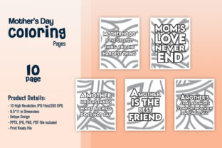 Print on Demand: Mother's Day Coloring Pages with Quotes Graphic KDP Interiors By fuad333