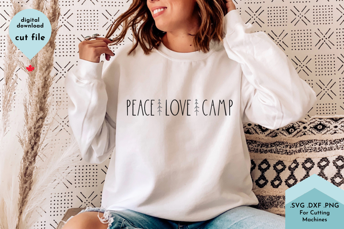 Peace Love Camp - Camping Hand Lettered SVG File