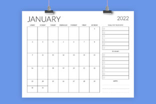 Print on Demand: 8.5 X 11 Inch 2022 Planner Calendar Graphic Print Templates By Running With Foxes