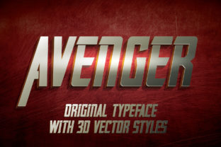 Print on Demand: Avenger Display Fuente Por Vozzy Vintage Fonts And Graphics