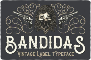Print on Demand: Bandidas Display Font By Vozzy Vintage Fonts And Graphics
