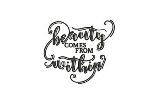 Beauty Comes from Within Awareness Embroidery Design By DigitEMB