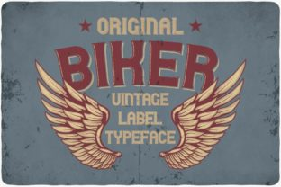 Print on Demand: Biker Display Font By Vozzy Vintage Fonts And Graphics