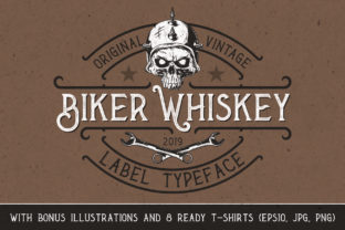Print on Demand: Biker Whiskey Display Font By Vozzy Vintage Fonts And Graphics