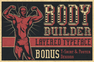 Print on Demand: Bodybuilder Display Font By Vozzy Vintage Fonts And Graphics