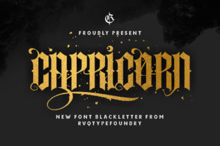 Print on Demand: Capricorn Blackletter Font By Rvq Type Foundry