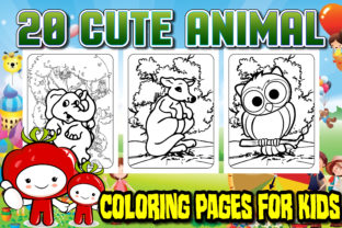 Cute Animal for Kids Graphic Coloring Pages & Books Kids By GraphicsArt
