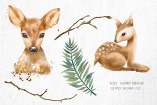 Cute Deers Clipart Graphic Illustrations By HappyWatercolorShop 2