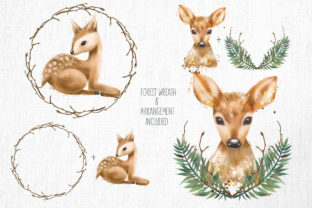 Cute Deers Clipart Graphic Illustrations By HappyWatercolorShop 3