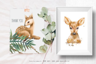 Cute Deers Clipart Graphic Illustrations By HappyWatercolorShop 4