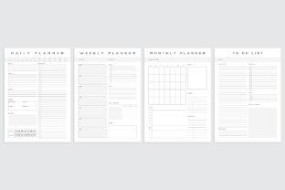 Print on Demand: Daily Weekly Monthly to-Do Planner PDF Graphic KDP Interiors By AmitDebnath