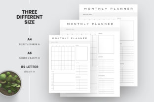 Print on Demand: Daily Weekly Monthly to-Do Planner PDF Graphic KDP Interiors By AmitDebnath 3