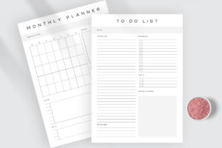 Print on Demand: Daily Weekly Monthly to-Do Planner PDF Graphic KDP Interiors By AmitDebnath 5