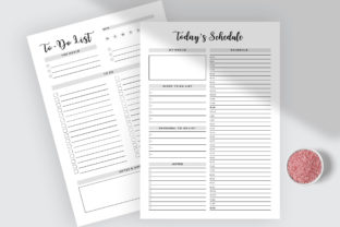 Print on Demand: Daily Schedule & to Do List Planner Graphic KDP Interiors By AmitDebnath