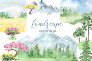 Landscape  Clipart. Forest, Mountains Graphic Add-ons By EvArtPrint