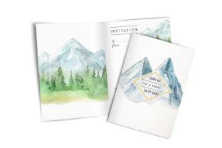 Landscape  Clipart. Forest, Mountains Graphic Add-ons By EvArtPrint 3
