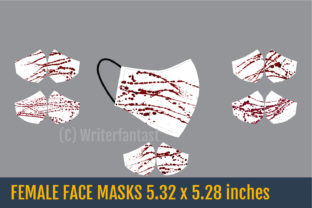 Male and Female Face Masks Templates Graphic Crafts By Writerfantast