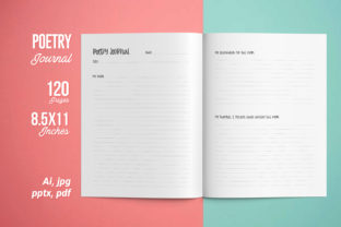 Poetry Journal | KDP Interior Graphic KDP Interiors By iCreativee