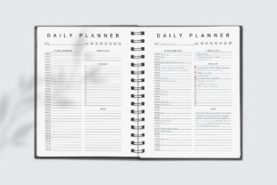 Print on Demand: Printable Daily Planner Graphic KDP Interiors By AmitDebnath