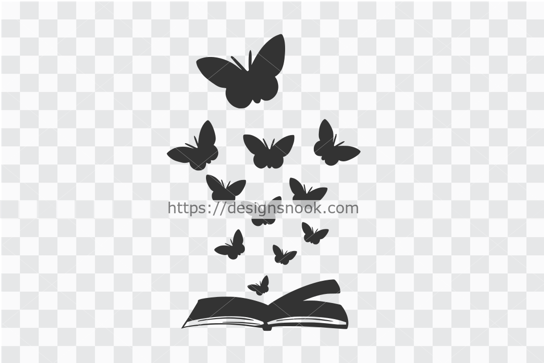 Butterflies and Book SVG File