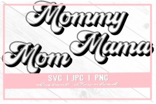 Print on Demand: Retro Mama Mom Mommy Mother's Day Shirt Graphic Illustrations By thecouturekitten