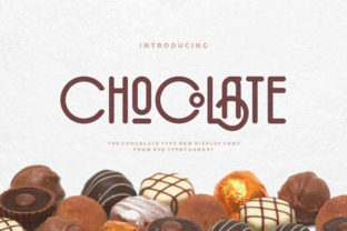 Print on Demand: The Chocolate Display Font By Rvq Type Foundry