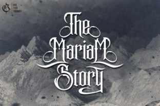Print on Demand: The Mariam Story Blackletter Fuente Por Rvq Type Foundry 1