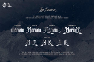 Print on Demand: The Mariam Story Blackletter Fuente Por Rvq Type Foundry 2